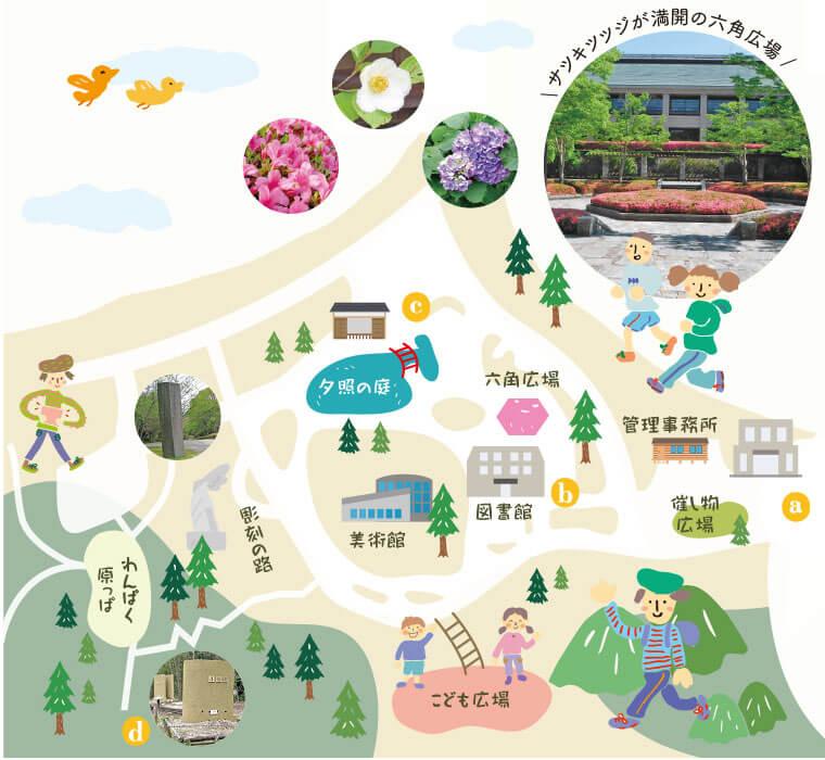 びわこ文化ゾーン地図